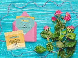 הזמנה לחתונה - דו צדדי, גודל ריבוע