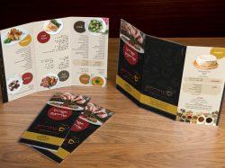 עיצוב תפריטים קייטרינג סעודתא